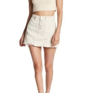 NWT Free People destroyed denim mini skirt, 29